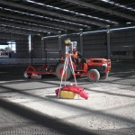 Laser equipment in large commercial shed