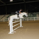 Katie McVean trialing the Equidays indoor arena